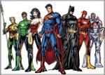 DC Justice League of America Magnet