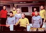 Star Trek Cast on Bridge Magnet