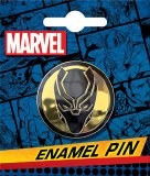 Black Panther Symbol Enamel Pin