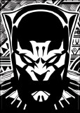 Black Panther Black and White Graphic Magnet