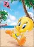 Looney Tunes Tweety Beach Magnet