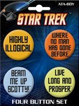Star Trek Quotes Button Set