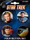 Star Trek Cast Button Set