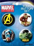 Marvel Avengers Buttons 4pk