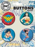 DC Wonder Woman 4 Button Set