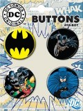 DC Batman 4 Button Set