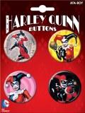 DC Harley Quinn 4 Button Set 2
