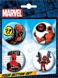 Deadpool 4 Button Set 5