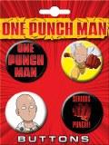 One Punch Man 4 Piece Button Set 1