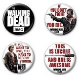 Walking Dead Season 7 4 Button Set