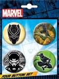 Marvel Black Panther Button 4 Piece Set