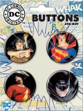 DC Comic Alex Ross Button Set
