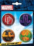 Four Button Set Marvel TV Logos