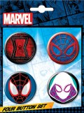 Marvel Icons Spider-Man Buttons Set
