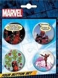Deadpool 4 Button Button Set 5