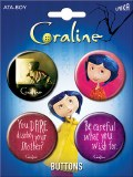 Coraline Movie 4 Pin Set