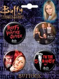 Buffy the Vampire Slayer 4 Button Set