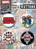 Marvel 80th 4 Button Set