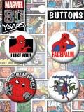 Spider-Man Animated 4 Button Set