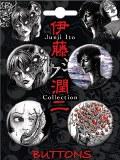 Junji Ito 4 Button Set 1