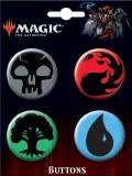 Magic the Gathering Mana Symbol 4pc Button Set 1