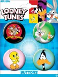 Looney Toons Carded 4 Pack Buttons Set A