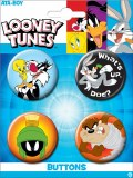 Looney Toons Carded 4 Pack Buttons Set B