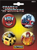 Transformers Autobots Carded 4 Pack Buttons
