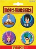 Bobs Burgers 4 Button Set