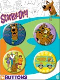 Scooby Doo 4 Pack Buttons Set A