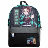 Demon Slayer Tanjiro Checker Print Backpack