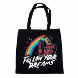 Nightmare on Elm Street Freddy Krueger Follow Your Dreams Black Canvas Tote