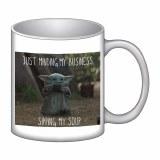 Star Wars The Mandalorian Child Sipping Soup 16 oz. Ceramic Mug