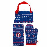 Captain America Kitchen Set- Apron/Mitt/Dish Towel
