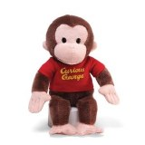 "Curious George 12"" Red Shirt Plush"
