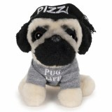 Doug the Pug 5 In Pizza Hat Plush Doll