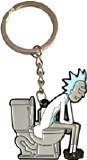Rick and Morty Rick on Toilet Keychain