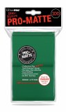 Ultra Pro Pro Matte Green Deck Sleeves 100ct
