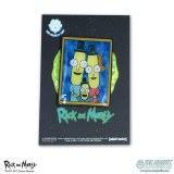 Rick And Morty Lil Poopy Family Portrait Lapel Pin