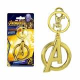 Avengers Gold Logo Pewter Keychain