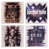 Doctor Who Ceramic Coaster Set