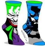 Batman/Joker Reversible Crew Socks