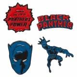 Black Panther Lapel Pin Set