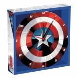 "Marvel Captain America Shield 13.5"" Cordless Wood Wall Clock"