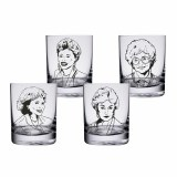 Golden Girls 10 oz. Highball Glasses - Set of 4