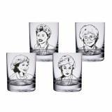 Golden Girls 10 oz. Highball Glasses - Set of 4