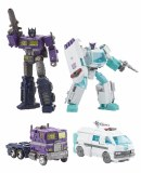 Transformers Selects Shattered Glass Voyager Optimus Prime/Deluxe Ratchet Action Figure Set