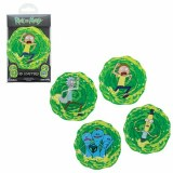 Rick and Morty Lenticular Coasters 4-Pack