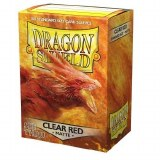 Dragon Shield Clear Red Matte Sleeves 100 Count