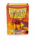Dragon Shield Orange Matte Protective Sleeves 100ct